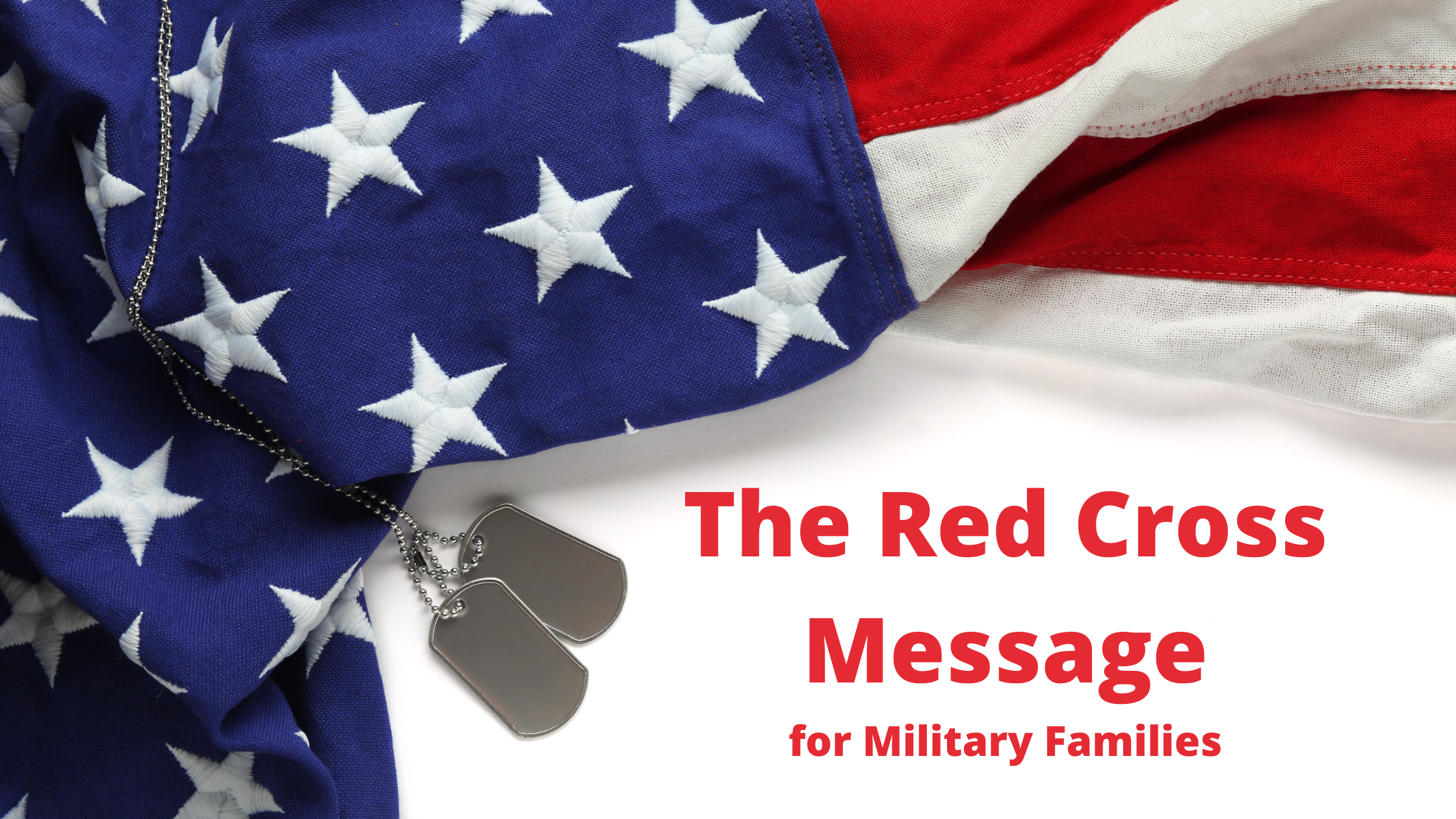 American Red Cross Message